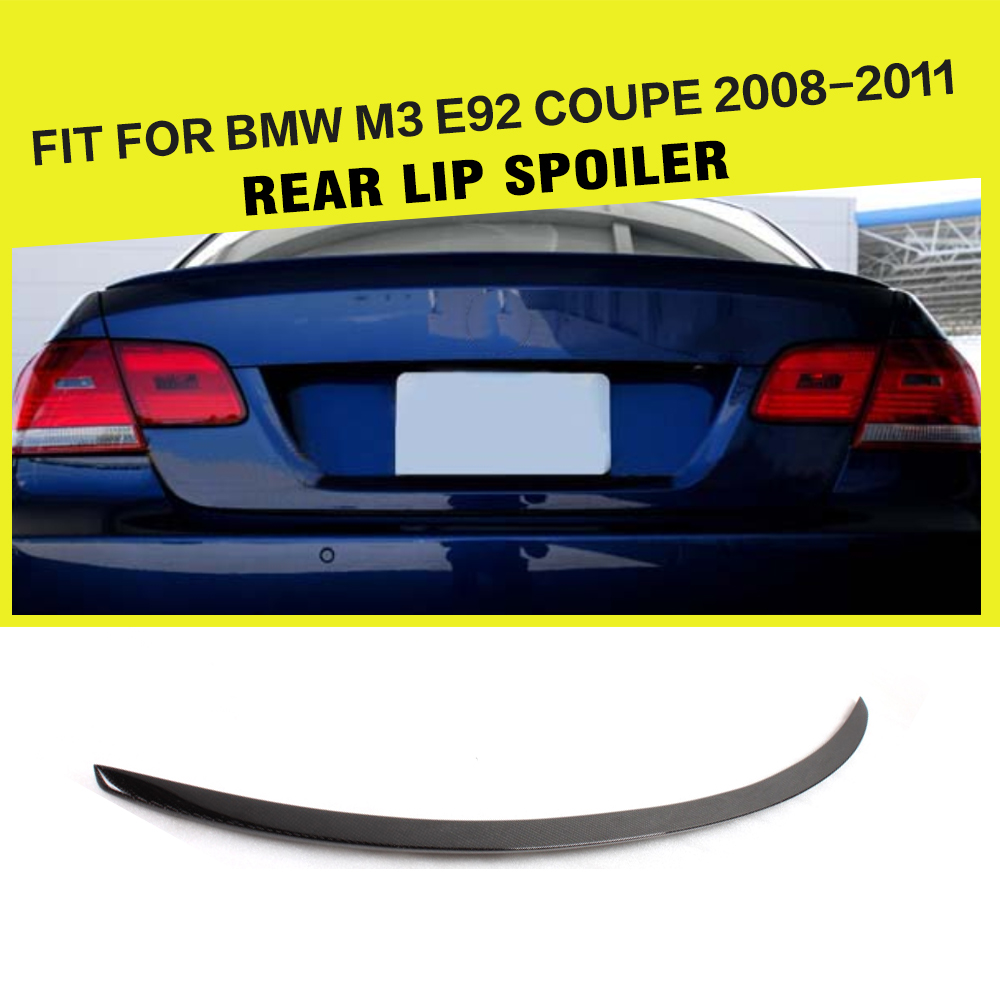 Car Styling Carbon Rear Trunk Spoiler Lip Wing For BMW 3