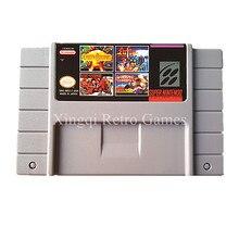 Super Nintendo SFC/SNES MS17 4 в 1 Видеоигры Картридж Консоли Карта США Версия Английского Языка Коллекция