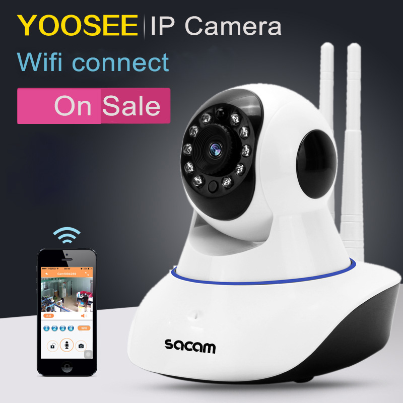 Sacam Dual Antenna Yoosee Ip Camera Dome Hd 1080p Network