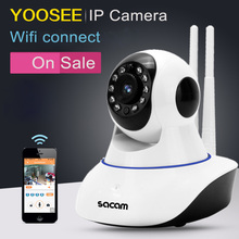 Sacam dual antenna camera dome HD 1080P Network Security home CCTV wi fi night vision ir cut with two ways audio