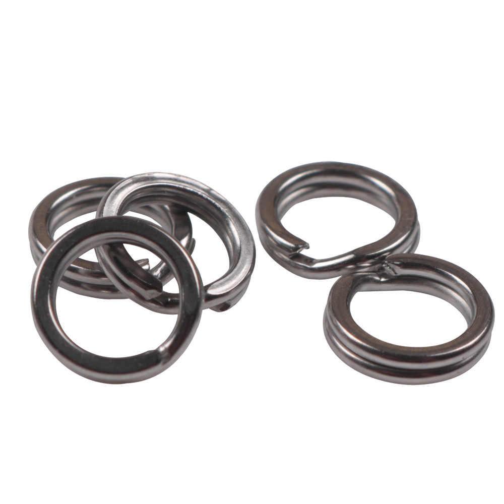 10 pc-100 Pc Vissen Ringen Rvs Split Ringen Hoge Kwaliteit Versterken Effen Ring Lokken Verbindende Ring Vissen accessoires