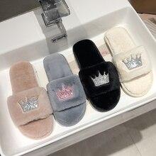 Slippers Women 2019 Womens Fur Slippers Winter Shoe