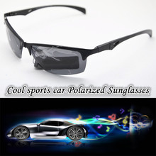 2016 Sun glasses  High grade Al Mg alloy Cool Sports car Polarized sunglasses Anti allergy and anti corrosion