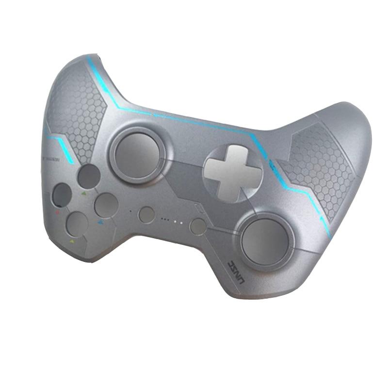 HQ Asli Perak Halo 5 Top Shell penutup Kulit perumahan kasus Perbaikan Atas untuk XBOX ONE X-BOX One controller Gamepad penggantian