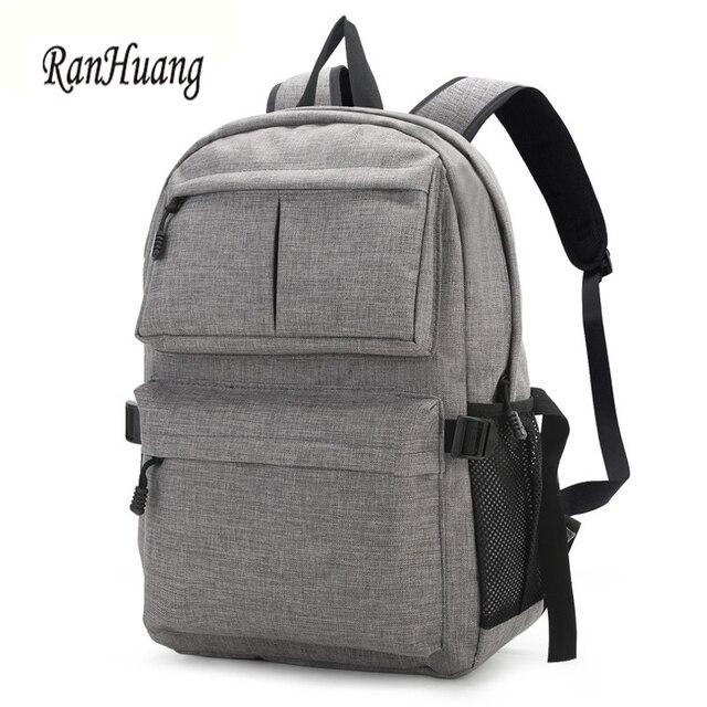8ef28468d1 RanHuang New 2017 Men Fashion Canvas Backpack Laptop Backpack Teenage Boys School  Bags Large Rucksack Waterproof