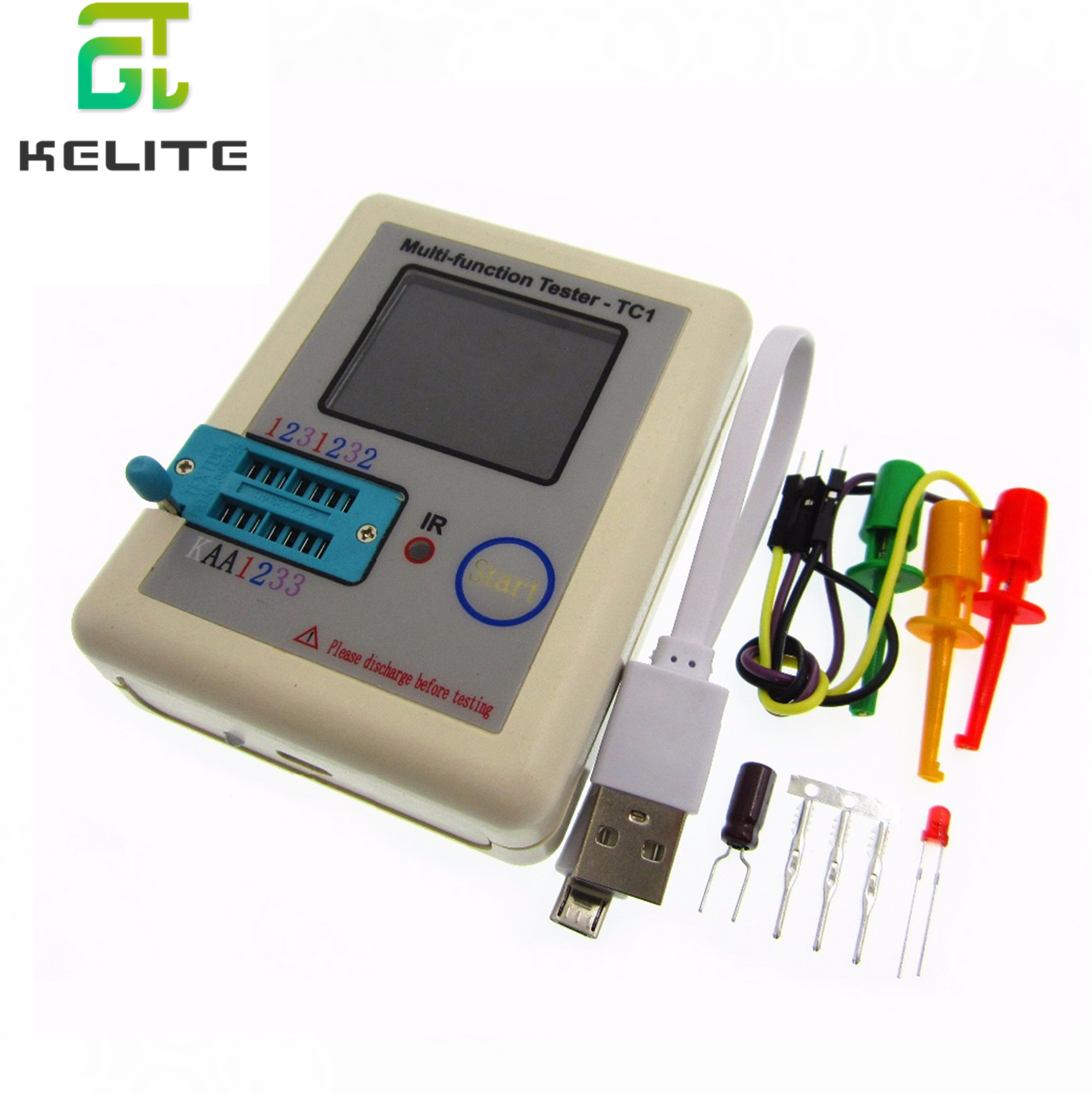 New LCR-TC1 3.5inch Colorful Display Multifunctional TFT Backlight Transistor Tester