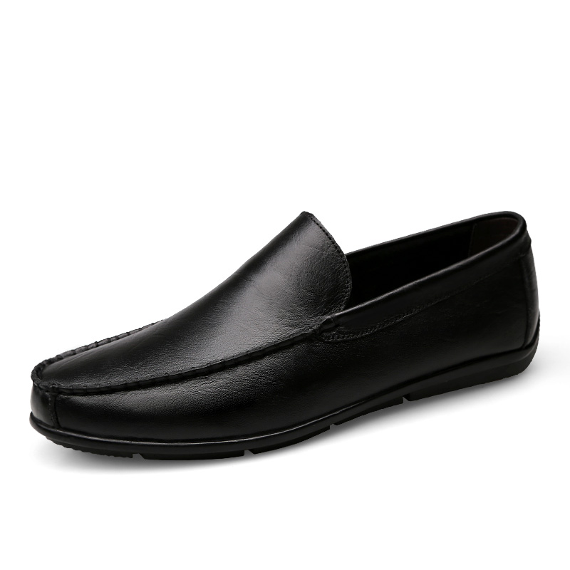 loafers men flats shoes cow split genuine leather shoes slip on casual moccasins Fashion shoes Male Brand Shoes zapatos hombre 2017 autumn fashion men pu shoes slip on black shoes casual loafers mens moccasins soft shoes male walking flats pu footwear