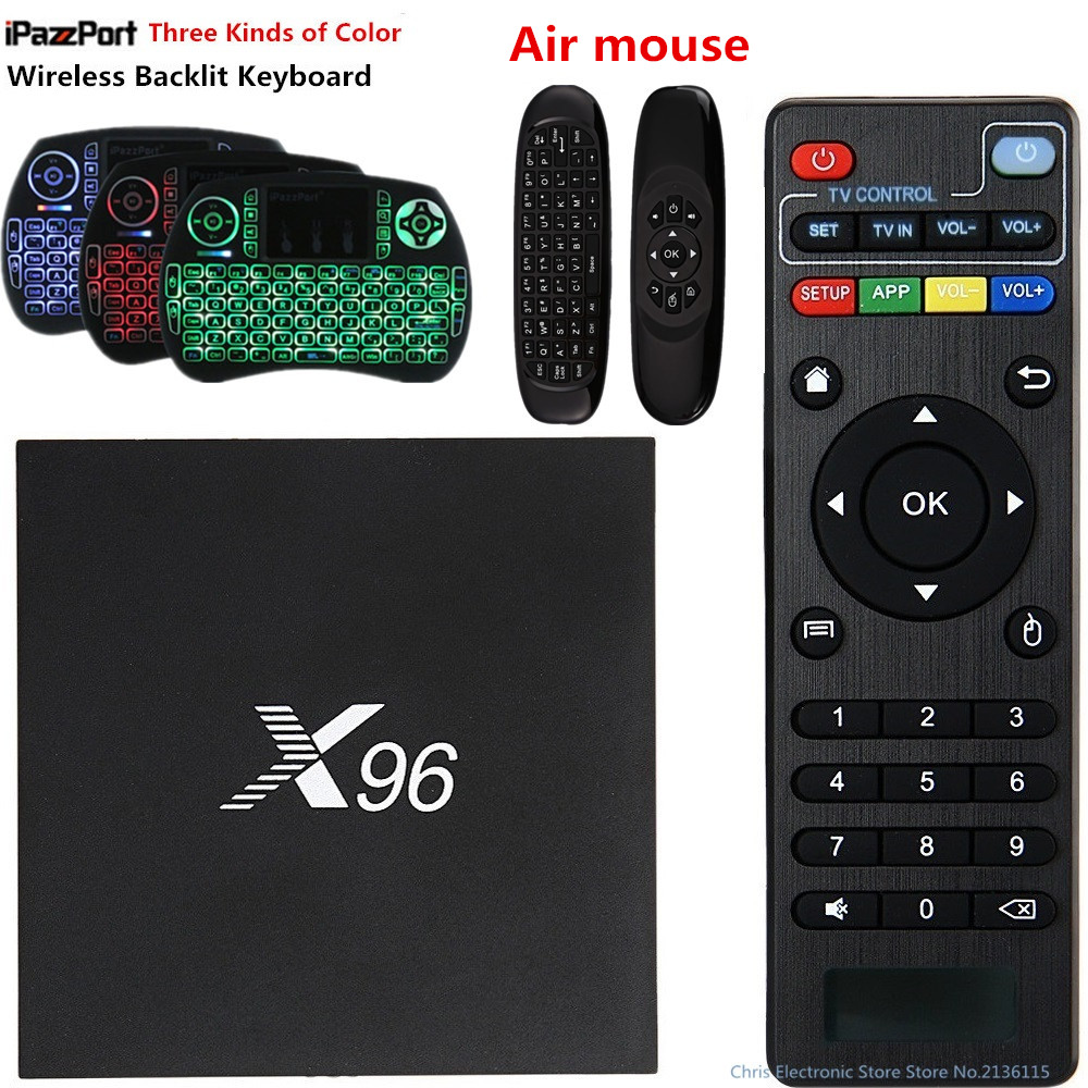 Original X96 TV Box Amlogic S905X Quad Core Android 6.0 2GB 16GB 1GB 8GB Set-Top Box WIFI HD 2.0 4K*2K 1080P diamond a9 android 6 0 tv box amlogic s912 2gb 16gb quad core wifi hdmi 4k 2k hd smart set top box media player mini pc iptv box