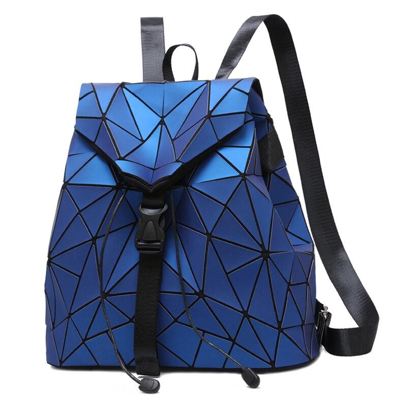 Nevenka Diamond Lattice Backpack Women Backpack Leather Creative Geometric Backpacks Drawstring Backpacks for Teenager Girl 201807