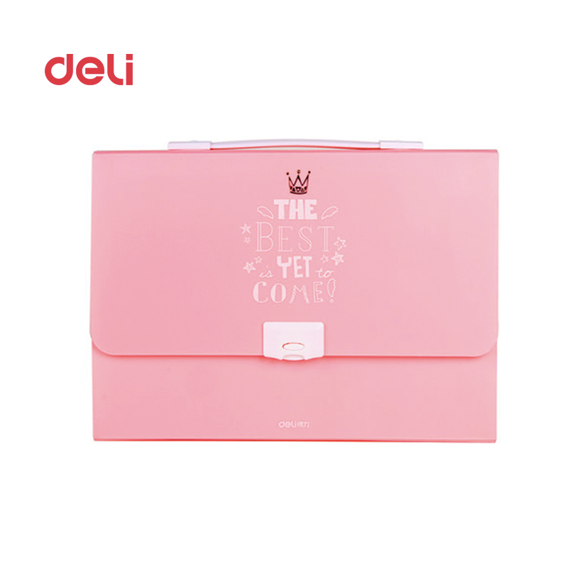 Deli New School & Office Supplies File Folder durable Expanding Wallet A4 18index Portadocumentos Convenient expanding wallet deli a4 folder 8 grids portable multi layer paper bag information package expanding wallet document bag school office supplies
