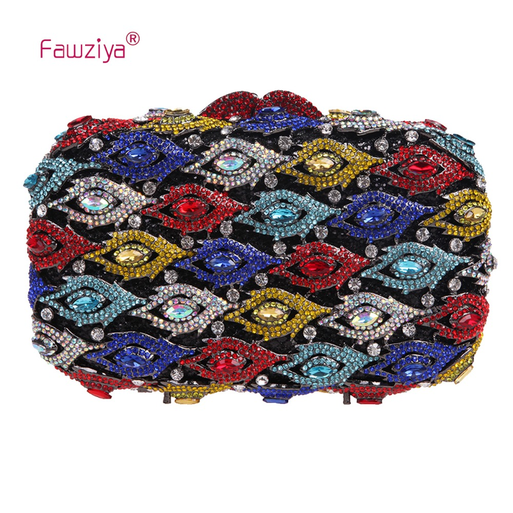 Fawziya Bag Cross Clutches And Evening Bags With Eye Design Crystal Clutch Purse arlight заглушка alu asymetric левая