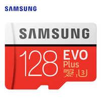 SAMSUNG microsd karty 256G 128GB 64GB do 100 mb/s Class10 U3 micro SDXC klasy EVO Plus karty Micro SD karta pamięci TF lampa błyskowa