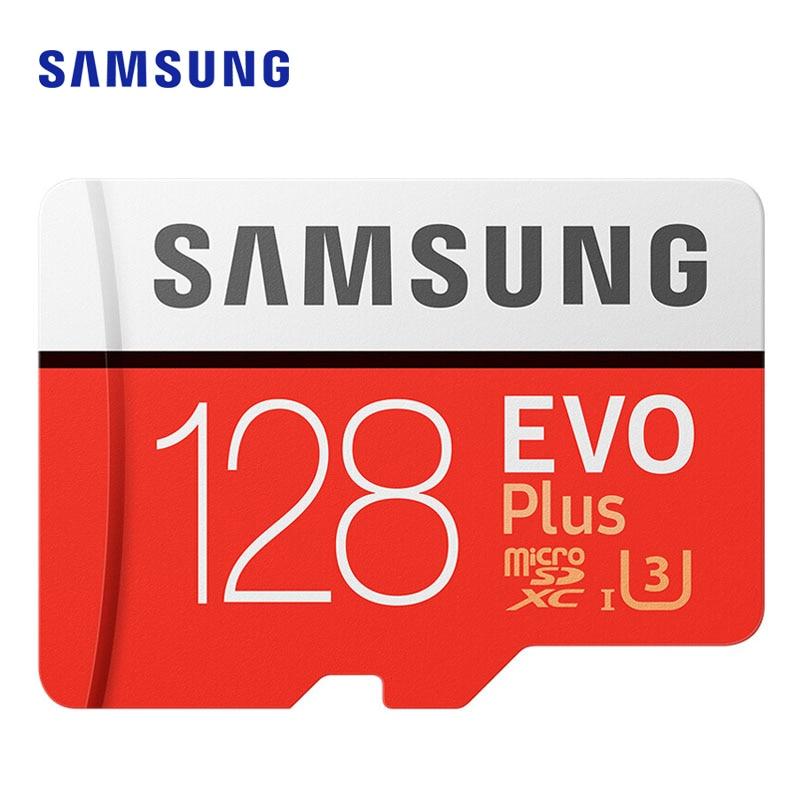SAMSUNG microsd tarjeta 256G 128GB 64GB hasta 100 MB/S Class10 U3 micro SDXC grado EVO Plus de tarjeta Micro SD TF tarjeta de memoria Flash