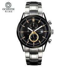 Люксовый бренд OCHSTIN часы мужчины водонепроницаемый мода свободного покроя спорт кварцевые часы платье бизнес наручные часы час для мужчин