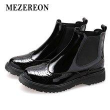 cacd02e48366 MEZEREON femmes bottes en cuir véritable femme bottines Fashion Designer  bande élastique bottes d hiver pour chaussures pour fem.