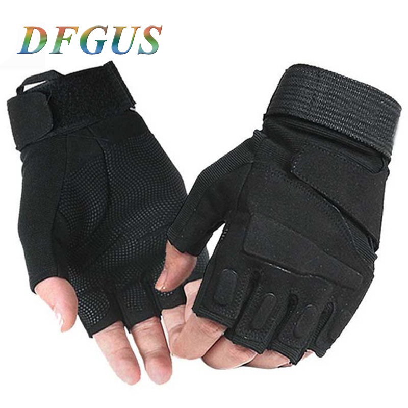 Military Tactical Gloves Airsoft Paintball Outdoor Sports Mittens Motorcyle Cycling Gloves Mens Half Finger Tactical Gloves