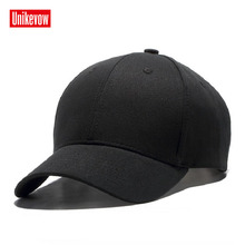 Brand UNIKEVOW 100% cotton Baseball Cap High quality solid Caps Hip Hop hats for men & women Unisex Outdoor Snapback Hat