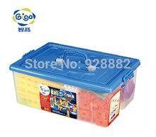 GIGO 177PCS environmental plastic material Building blocks to build 34 models HAPPY ORBIT GROUP(L) kids' creativity toys #7359