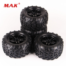 цена 1:8 Scale Bigfoot Monster Truck Rubber Tyre and Rim Wheel with 17mm Hex fit 1/8 HEX RC Off-Road Car Model Accessories в интернет-магазинах