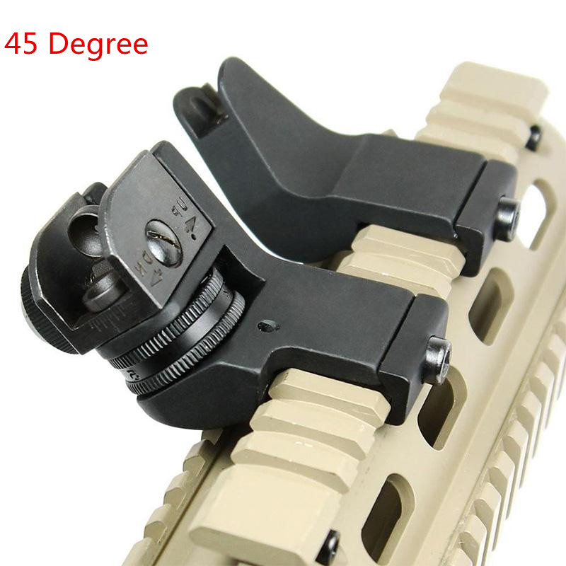 font b Tactical b font Hunting Flip Up Front Rear 45 Degree Adjustable Rapid Transition