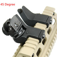 Tactical Hunting Front Rear 45 Degree Rapid Transition Backup Iron Sight