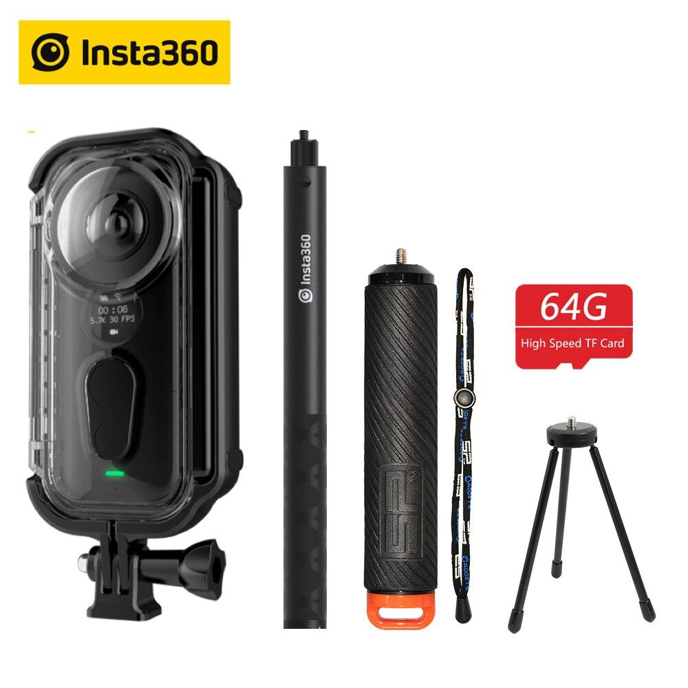 Insta360 ONE X Macchina Fotografica di Azione di VR 360 Macchina Fotografica Panoramica Per iPhone e Android 5.7K Video 18MP Foto Invisibile Selfie bastone