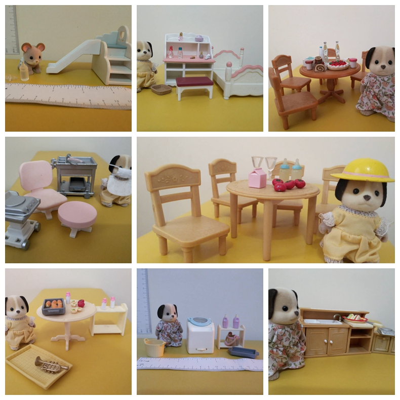 sylvanian family original mini furniture toys kitchen toy