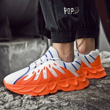 New High Top Fashion Casual Shoes Men Comfortable 2019 Autumn Chunky Sneakers Tenis Lightweight Breathable Zapatos De Hombre