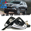 2PCs Set LED DRL Car Daylight Daytime Running Lights DRL For Toyota Fortuner 2015 2016 Free