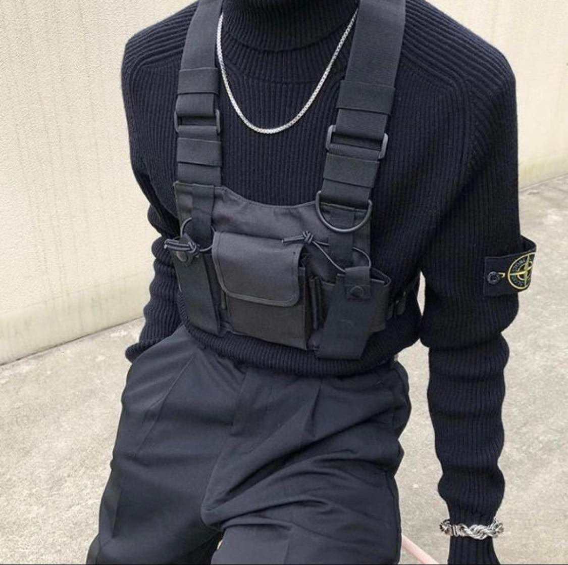 Men's Tactical Shoulder Chest Rig Bag 6