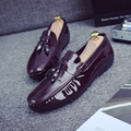 Tidog The new patent leather shoes slip-on Doug male trend of Korean men's casual shoes