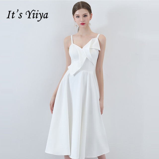 cbcedc6349e It s Yiiya Prom Dresses Sleeveless Spaghetti Strap White Zipper Elegant  Prom Gowns Party Dresses Formal Dresses LX953