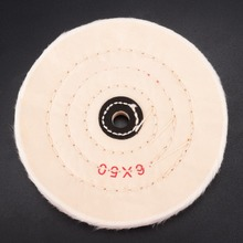 6 inch Buffing Polishing Wheel 1/2 Arbor Buffer Polish Pad 50 Play for Wood Metal Abrasive Tools Mayitr