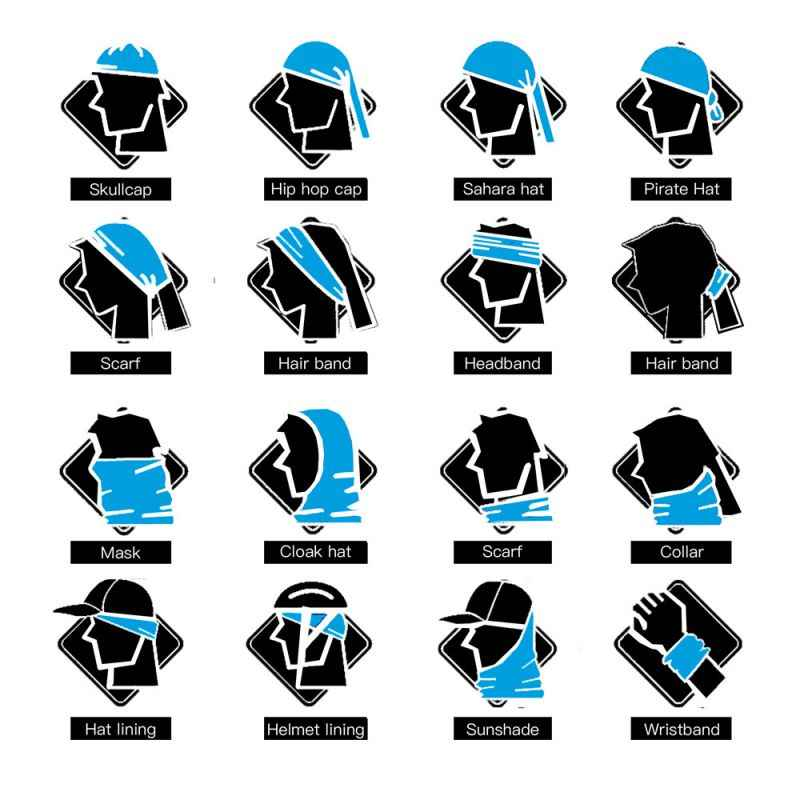 ... Outdoor Sport Magic Scarf Multi Use Female Male Headwear Cycling  Bandana Bicycle Moto Motorcycle Skull Face 5d163891843a