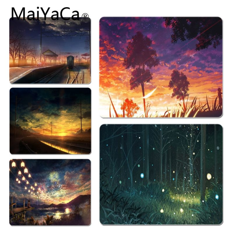 MaiYaCa Your Own Mats Anime scene Customized laptop Gaming mouse pad Size for 18x22cm 20x25cm 25x29cm Game Mouse Pad