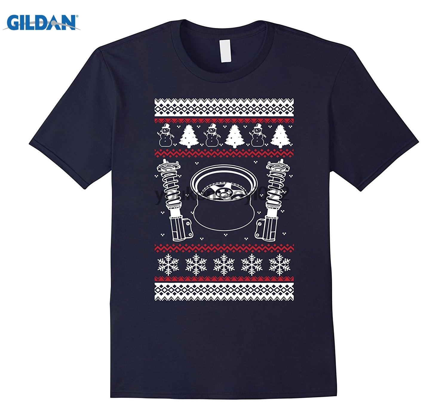 GILDAN Car Parts Ugly Christmas Sweater Style T Shirt Xmas JDM ...