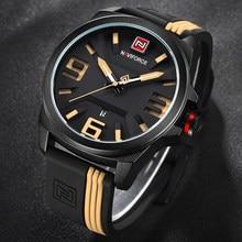9095fc026caf NAVIFORCE hombres de marca de moda Casual relojes hombres 3D cara cuarzo-reloj  impermeable militar
