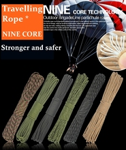 High Quality 9 Strand Ninecore 100FT 31 meters reflective color Climbing Camping survival equipment Paracord Parachute cord/