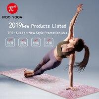 Коврик для йоги PIDO, 7 мм, толстый и длинный с принтом, замша + TPE, коврик для фитнеса, гимнастический нескользящий танцевальный коврик