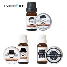 100% Natural Organic Face Beard Oil Balm Soften Beard Hair Growth Nourishing for Men