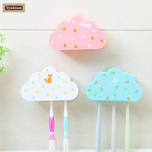 Could Moldeling Design 3 Toothbrush Holder Suction Wall Mount Stand Home Bathroom Cute Lovely Various Cartoon Wall Rack Holder