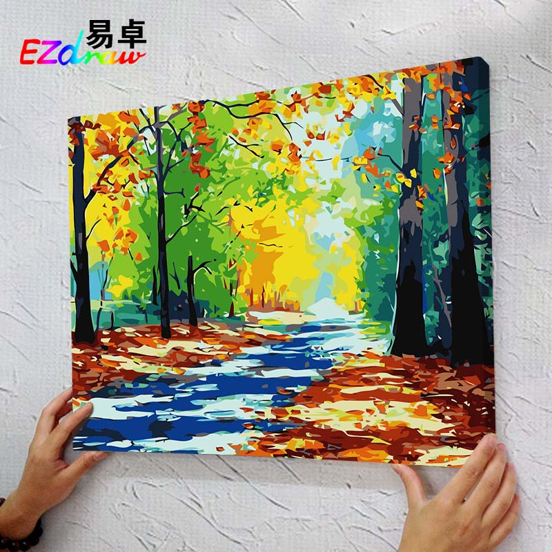 free shipping paintings paint by number acrylic painting oil