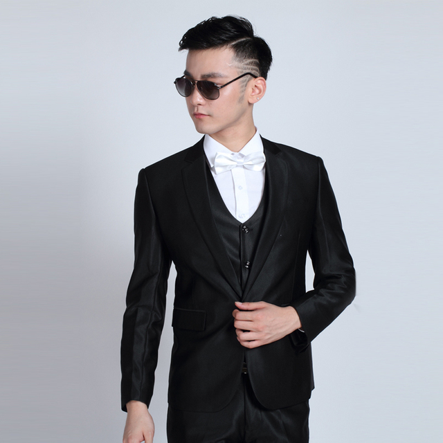 (Jacket + Pants) Fashion Men Business Suits Slim Men's Suits Brand Clothing Wedding Suits For Men Latest Coat Pant Designs 5