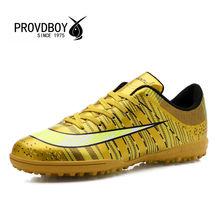 2016 PROVDBOY font b Soccer b font Shoes Brand Boots Turf Breathable Shock Absorption Football Wearable
