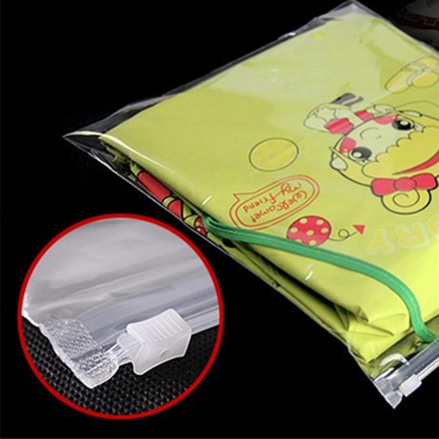 Articole de îmbrăcăminte din plastic transparent Zip Lock rochie - Organizarea și depozitarea în casă - Fotografie 4