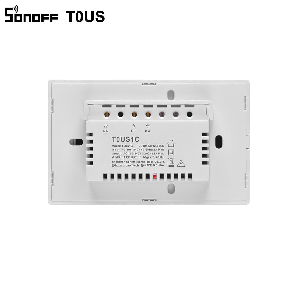 Sonoff T0US Tx Wifi Smart Muur Lichtschakelaar Timer 1/2/3 Gang Ondersteuning Voice/App/Touch Control werkt Met Alexa Google Home Ifttt 6