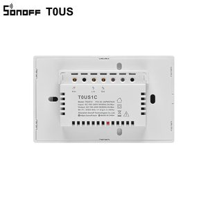 Image 5 - Sonoff interruptor inteligente de parede t0us tx, temporizador de interruptor de luz inteligente wifi com suporte de voz/aplicativo/controle por toque, 1/2/3 gang funciona com alexa google home ifttt
