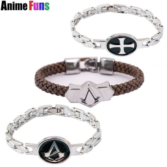 Ins Templar Order Logo Bracelet Syndicate Ezio Punk Bangle Cosplay Jewelry For Women Man