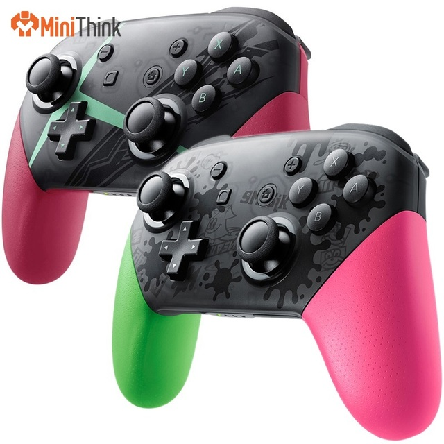 For Nintend Switch Pro Controller Bluetooth Wireless Gamepads Game Joystick Host Console Joypad – Splatoon 2/Xenoblade Themed