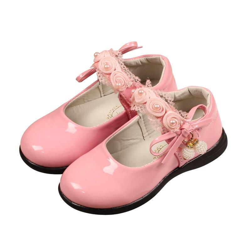 Bekamille Kid Shoes Girls Flower Baby Princess Fashion Children Pearl Party Explosive